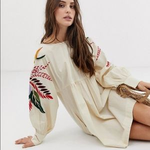 FP Mini Obsessions embroidered mutton sleeve dress